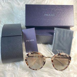 PRADA 53mm round sunglasses SALE !! NWT